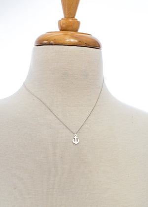 Delicate Anchor Necklace