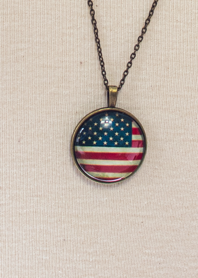 American Flag Bubble Necklace