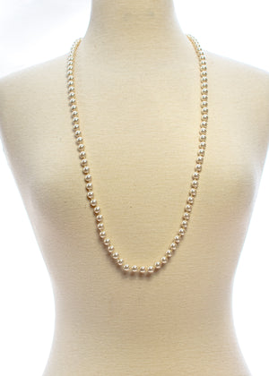 Hand Knotted Long Strand Pearl Necklace