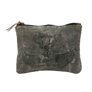 Vintage Reindeer Print Small Bag