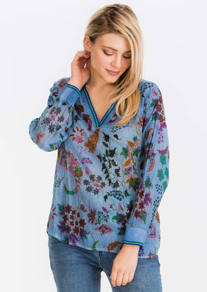Floral Printed V-Neck Tunic