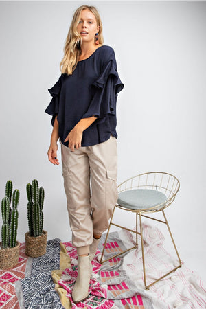 Falling For You Cargo Satin Utility Pants
