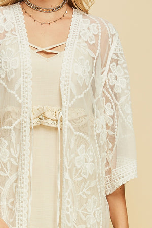 Gone with the Lace Sister Kimono