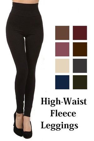 High Waisted Fleece Lined Leggings