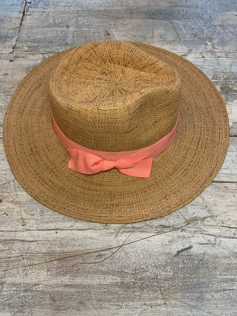 Brown/Tan Woven Paper Hat