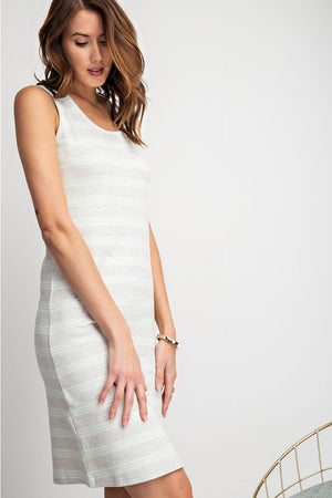 One Way Stripe Knee Dress