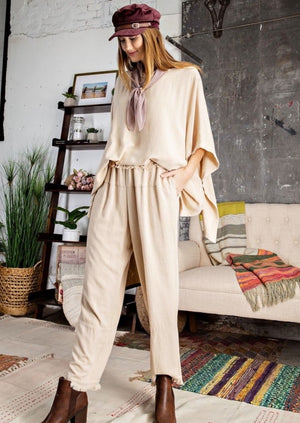 Fray and Chill Linen Leg Pants