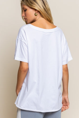 "Cotton ""Not Too Basic Tee"""