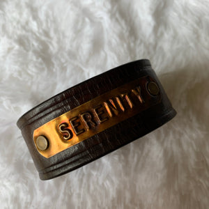 Leather Belt Cuff