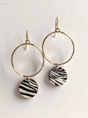 Animal Print Dangle Earrings
