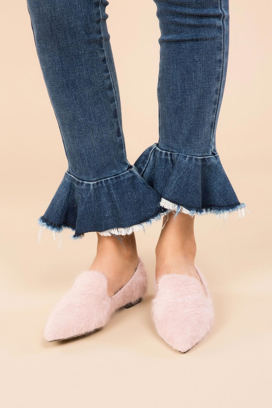 Mohair Printed Flats