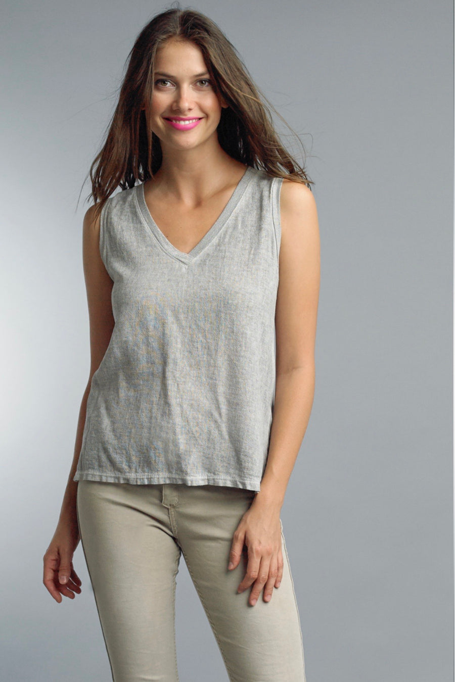 V-Neck Sleeveless Tank Top