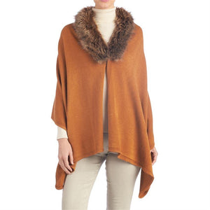 Province Faux Fur Trim Wrap