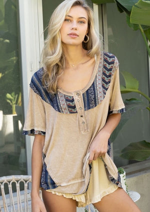 Shaken Aztec Knit Top