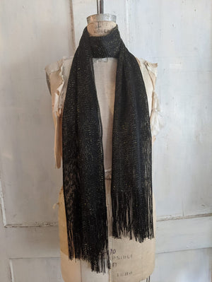 Metallic Thread Fringe Scarf
