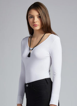 Bamboo Long Sleeve Scoop Neck Top