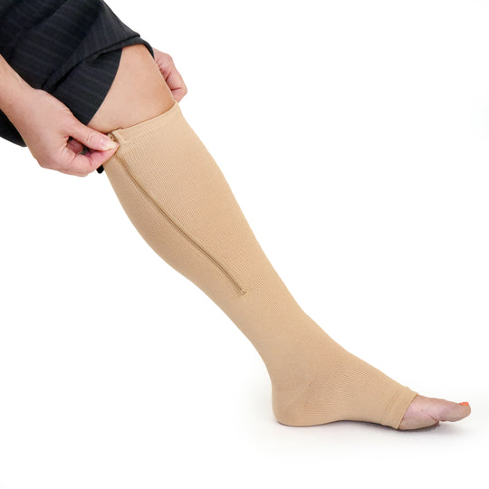 EASY-ON ZIPPERED COMPRESSION SOCKS
