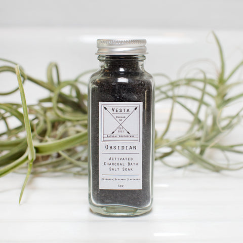 Obsedian Activated Charcoal Bath Salt Soak
