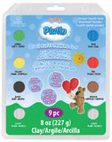 Pluffy 9 Piece Kits, Soft Fluffy Modelling Clay