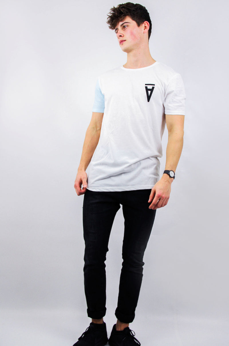 HALF / Blue Block Sleeve Tee