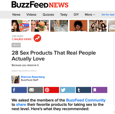 Buzzfeed 28 sex products real people actually love