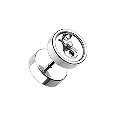 Soda Pop Can Steel WildKlass Fake Plug-WildKlass Jewelry