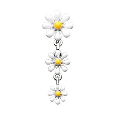 Reversible One Daisy at a Time WildKlass Belly Button Ring-WildKlass Jewelry