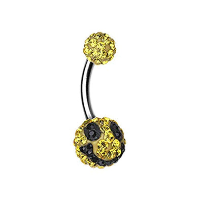 Smiley Multi-Sprinkle Dot WildKlass Belly Button Ring-WildKlass Jewelry