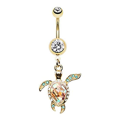 Shell Yeah! Sea Turtle WildKlass Belly Button Ring-WildKlass Jewelry