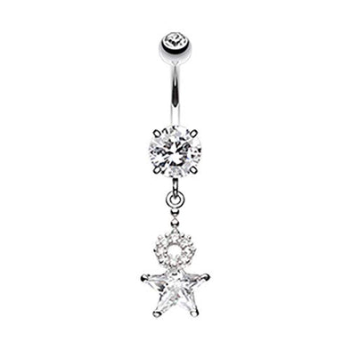 Halo Star WildKlass Belly Button Ring-WildKlass Jewelry