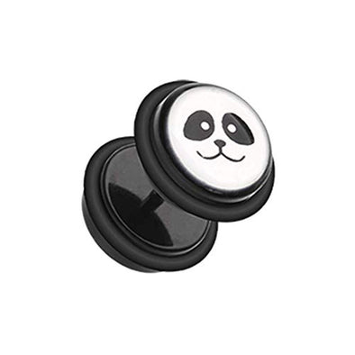 Panda Acrylic WildKlass Fake Plug with O-Rings-WildKlass Jewelry