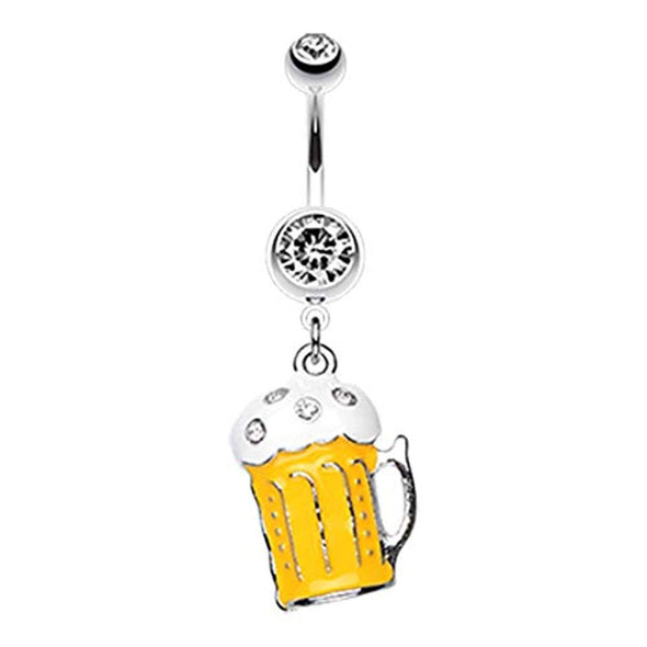Frosty Beer WildKlass Belly Button Ring-WildKlass Jewelry