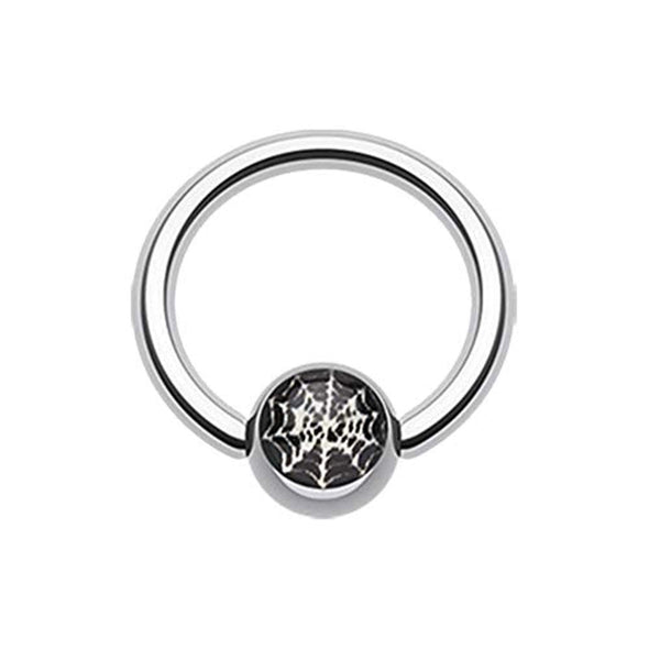 Spider Web Logo Ball Captive WildKlass Bead Ring-WildKlass Jewelry