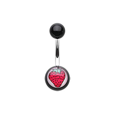 Strawberry Acrylic WildKlass Belly Button Ring-WildKlass Jewelry