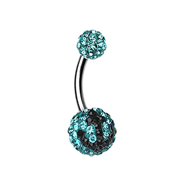 Anchor Dock Multi-Sprinkle Dot WildKlass Belly Button Ring-WildKlass Jewelry