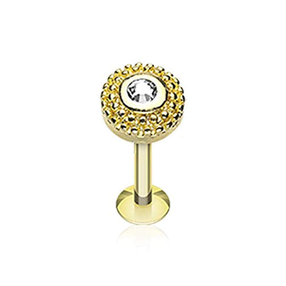 Golden Eris Sparkle WildKlass Steel Labret-WildKlass Jewelry
