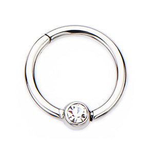 16g Stainless Steel WildKlass Hinged Segment Rings with 3mm ball-WildKlass Jewelry