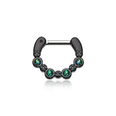 Colorline Aurea Sparkle WildKlass Septum Clicker-WildKlass Jewelry