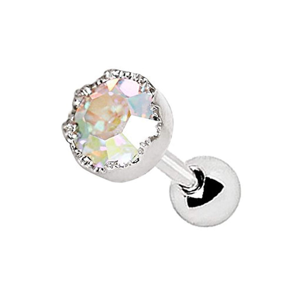 316L Stainless Steel Adorned Aurora WildKlass Cartilage Earring-WildKlass Jewelry