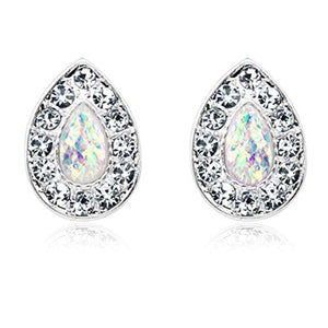Opal Avice WildKlass Ear Stud Earrings-WildKlass Jewelry