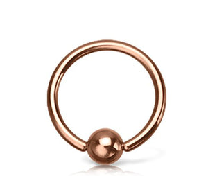 Rose Gold PVD Plated WildKlass Captive Bead Rings-WildKlass Jewelry