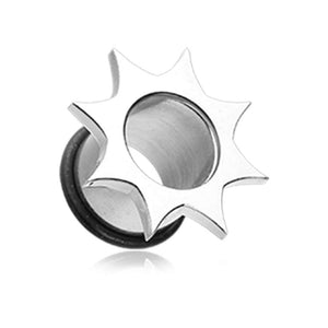 Starburst Single Flared Ear Gauge Tunnel WildKlass Plug-WildKlass Jewelry