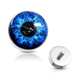 WildKlass Eyeball 316L Surgical Steel Internally Threaded Dermal Anchor Top-WildKlass Jewelry