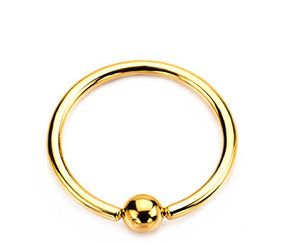 Gold PVD Plated WildKlass Captive Bead Rings-WildKlass Jewelry
