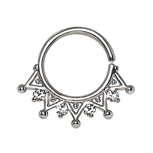 WILDKLASS 316L Stainless Steel Royal Ornate Seamless Ring/Septum Ring-WildKlass Jewelry