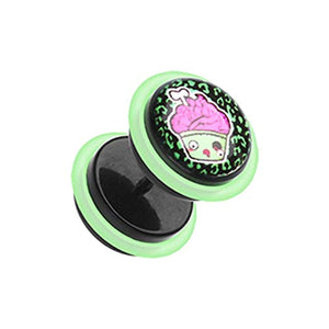 Zombie Cupcake Acrylic Fake WildKlass Plug with O-Rings-WildKlass Jewelry