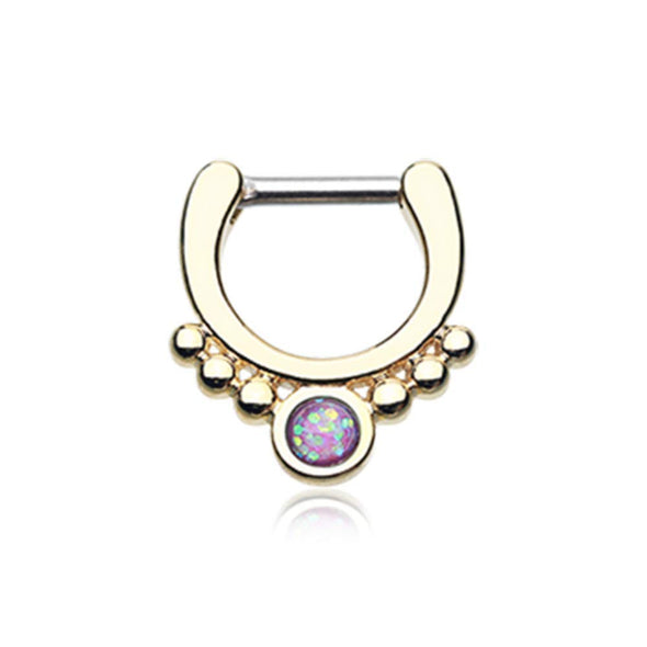 Golden Opal Grandiose WildKlass Septum Clicker-WildKlass Jewelry