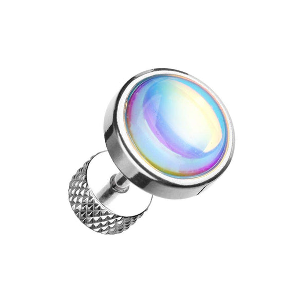 Illuminating Moonstone Steel WildKlass Fake Plug-WildKlass Jewelry