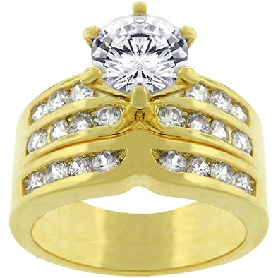 WildKlass Formal Gold ToneEngagement Set-WildKlass Jewelry