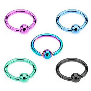 Titanium Plated and PVD coated WildKlass Captive Bead Rings-WildKlass Jewelry